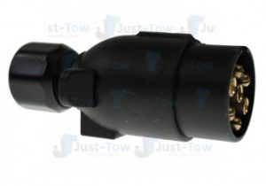 12N 7 Pin Black Plastic Plug