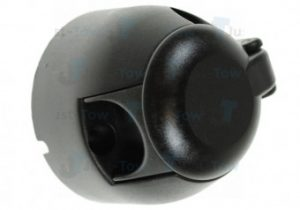 12N 7 Pin Black Plastic Socket