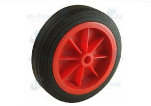150mm Red Plastic Wheel & Tyre