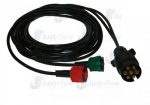 8M Harness with 7 Pin Plug & Quick Fit Red & Green Plugs