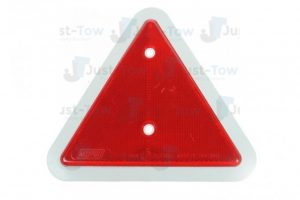 WHITE EDGE TRIANGLE REFLECTOR