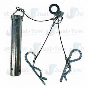 Spare Pin for 3.5T Ball & Jaw Coupling 25mm Dia Pin Complete with Cable, Tag & Clip Assembly