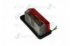 MP8191B RADEX RED/WHITE SIDE MARKER LAMP