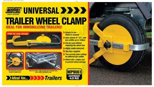 """Security Wheel Clamp for 8-10"""""""" Wheels"""