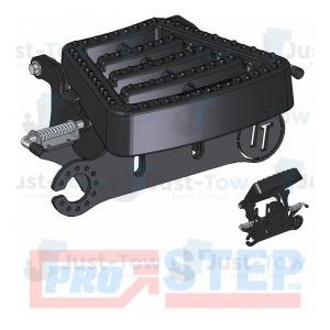 Black Pro-Step Coupling Spacer with Flip Up Tread