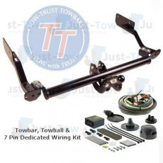 Ford Transit Custom TowTrust Towbar & 7 Pin Dedicated Electric Kit 2012 to 2016