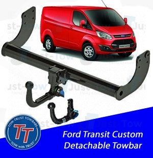 Ford Transit Custom Van TowTrust Detachable Towbar 2012 to Present