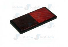 Self Adhesive Red Rear Rectangle Reflector