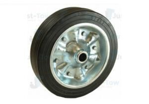225mm Steel Wheel & Solid Rubber Tyre