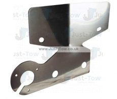 Stainless Steel Towbar Bumper Protector Plate + 1 Socket Mount