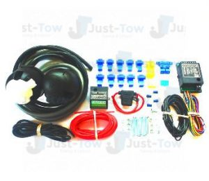 Universal Twin 7 Pin 12N/S Towbar Electric Bypass Wiring Kit & Charger Relay