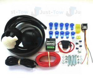 Universal Twin 7 Pin 12N/S Towbar Electric Wiring Kit & Charger Relay