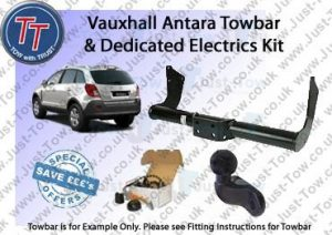 Vauxhall Antara Towbar & 7 Pin Dedicated Electric Kit 2007 to Present