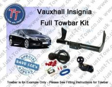 Vauxhall Insignia Saloon & Hatchback Towbar Kit 2008 to 2017