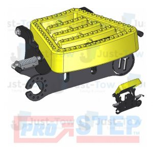 Yellow Pro-Step Coupling Spacer with Flip Up Tread