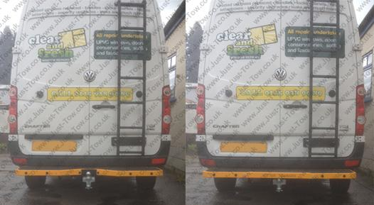 VW Crafter Van 2006 Onwards Fitted with Witter Towbar MR46, Towbar Step Z111 & Dedicated 7 Pin Electrics