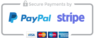Secure Payment by PayPal and Stripe