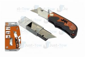 Jak Folding Utility Knife With 6 Extra Blades