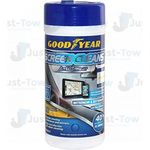 Good Year Screen Cleans Anti Smear Interior & Exterior Xl Wipes - Fresh Lemon Scent