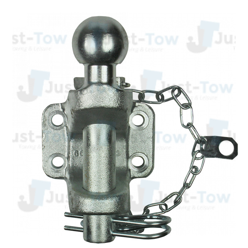 Black Ball Pin Jaw Coupling with BOLTS Combined Towball with Pin Hitch 3500kg