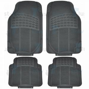 Black Universal Heavy Duty Car Mat Set