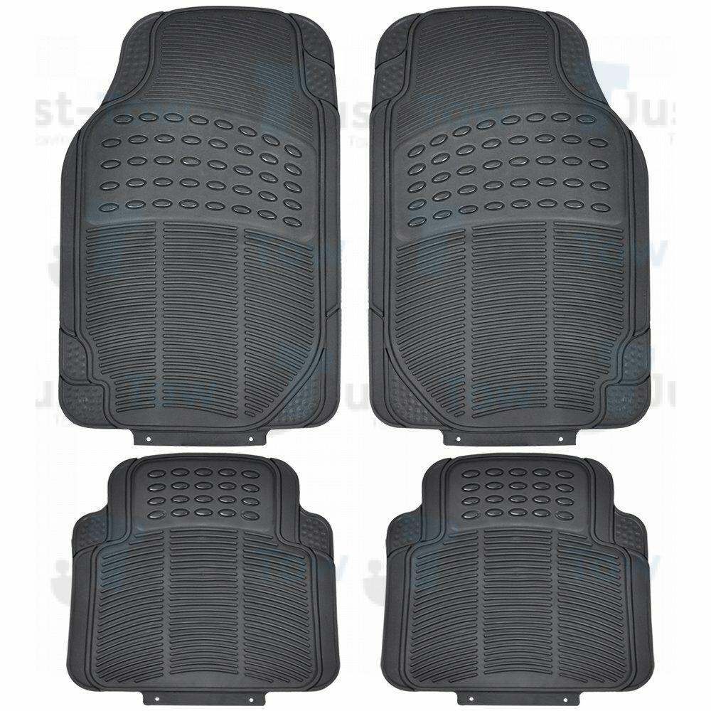 Black Universal Heavy Duty Car Mat Set