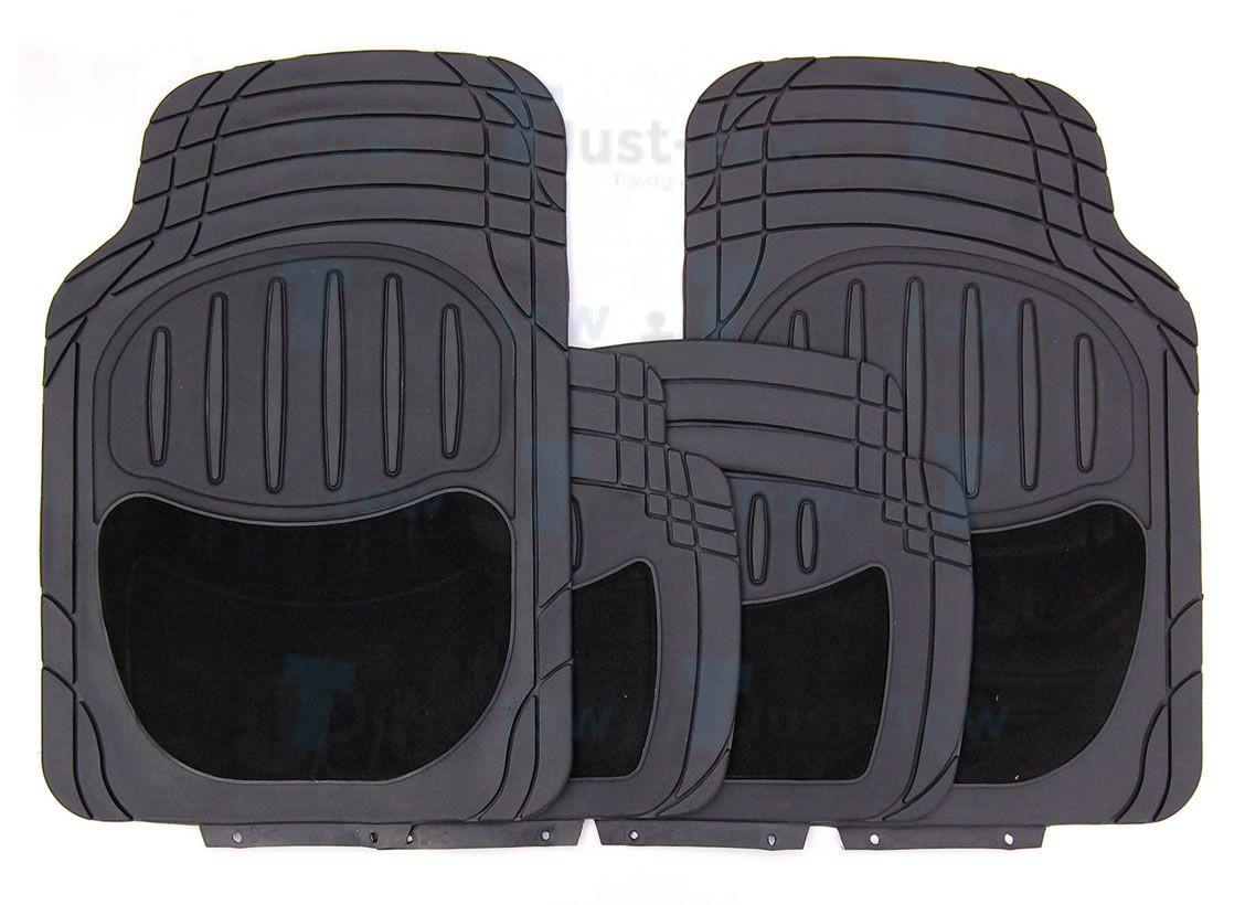 Black Carpet/PVC Luxury Universal Car Mat Set