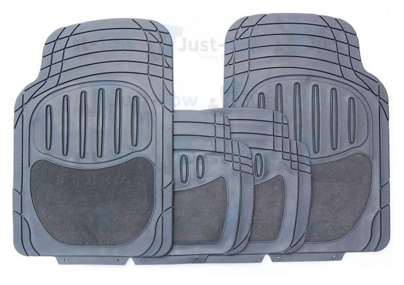 Grey Carpet/PVC Luxury Universal Car Mat Set