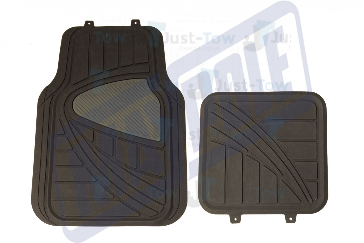 Universal Black/Grey PVC Car Mat Set