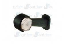 WAS 12/24V L.E.D L/H 45° White Outline Marker Position Lamp