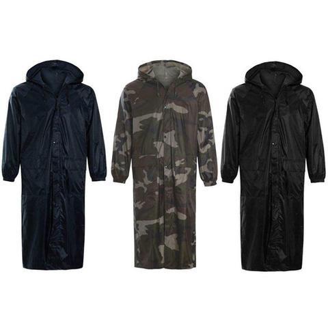 Long Plain Waterproof Rain Coat