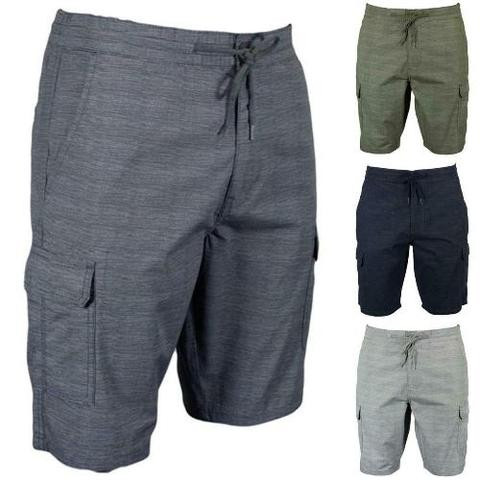 Mens Stretch Cargo Shorts - 100% Cotton