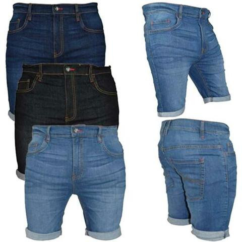 WestAce Mens Denim Chino Shorts